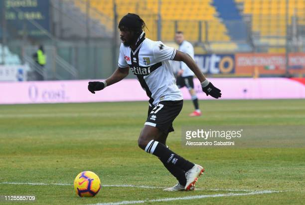 Gervinho of Parma Calcio in action during the Serie A match between Parma Calcio and SPAL at Stadio Ennio Tardini on January 27 2019 in Parma Italy