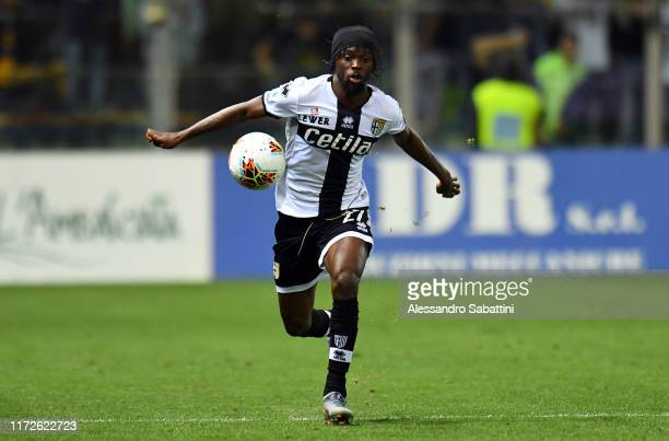 Gervinho of Parma Calcio in action during the Serie A match between Parma Calcio and Torino FC at Stadio Ennio Tardini on September 30 2019 in Parma...