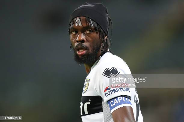 Gervinho of Parma Calcio in action during the Serie A match between ACF Fiorentina and Parma Calcio at Stadio Artemio Franchi on November 3 2019 in...