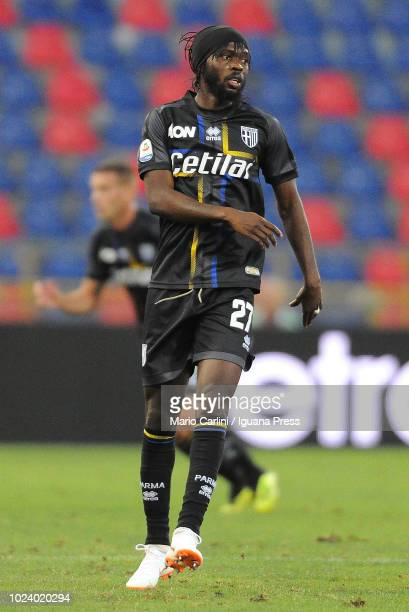 Gervinho of Parma Calcio looks on during the serie A match between SPAL and Parma Calcio at Stadio Renato Dall'Ara on August 26 2018 in Bologna Italy