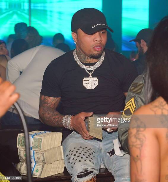 Gervonta Davis attends a party at Allure on April 16 2019 in Atlanta Georgia