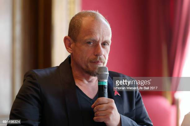 Gery Keszler speaks at the Life Ball 2017 press conference at Town Hall on June 10 2017 in Vienna Austria The Life Ball an annual charity ball...