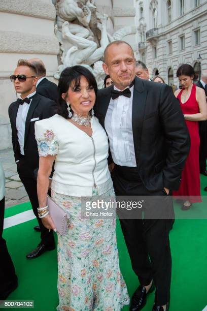 Gery Keszler with Regine Sixt during the Fete Imperiale 2017 on June 23 2017 in Vienna Austria