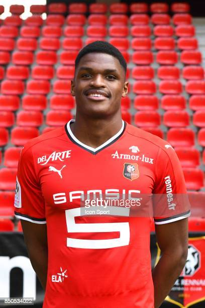 Gerzino Nyamsi during photoshooting of Stade Rennais for new season 2017/2018 on September 19 2017 in Rennes France