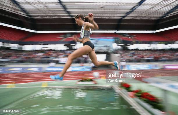 Gesa Felicitas Krause of Silvesterlauf Trier competes in the women's 3000 meter steeplechase final during day 3 of the German Athletics Championships...
