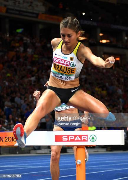 GesaFelicitas Krause of Germany competes in the Women's 3000 metres steeplechase final during day six of the 24th European Athletics Championships at...