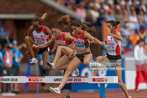 GesaFelicitas Krause of Germany leading the pack during the women's 3000m steeplechase finals at the Olympic Stadium during Day Five of the 23rd...