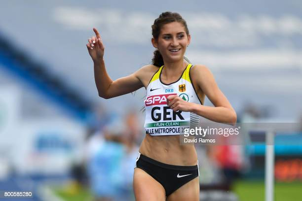 GesaFelicitas Krause of Germany wins in the Women's 3000m Steeplechase during day two of the European Athletics Team Championships at the Lille...