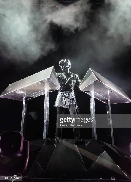 Gesaffelstein performs at the Outdoor Theatre during the 2019 Coachella Valley Music And Arts Festival on April 14 2019 in Indio California