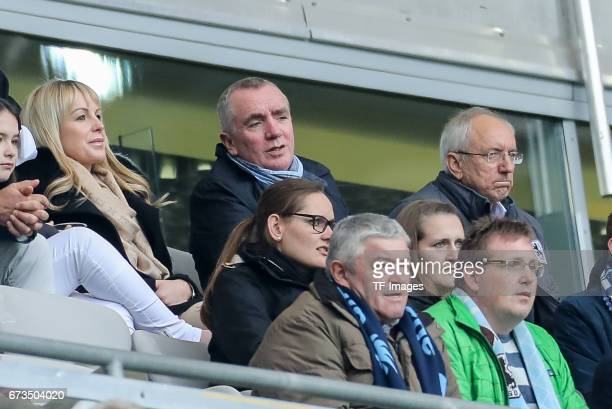 Geschaeftsfuehrer Ian Ayre of 1860 Munich looks on during the Second Bundesliga match between TSV 1860 Muenchen and SV Sandhausen at Allianz Arena on...