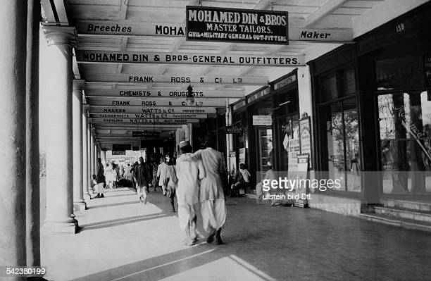 Geschäftsstrasse in Kalkutta- 1929
