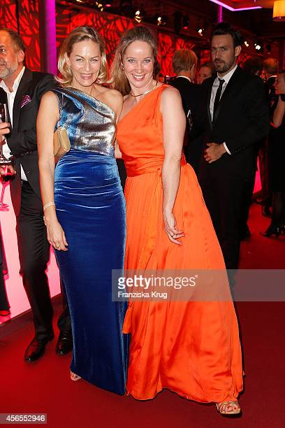 Gesine Cukrowski and AnnKathrin Kramer attend the Deutscher Fernsehpreis 2014 after show party on October 02 2014 in Cologne Germany