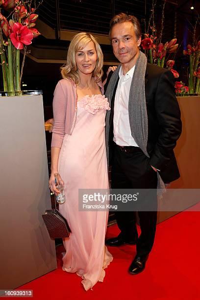Gesine Cukrowski and Hannes Jaenicke attend the 'Opening Party 63rd Berlinale International Film Festival' at the 63rd Berlinale International Film...