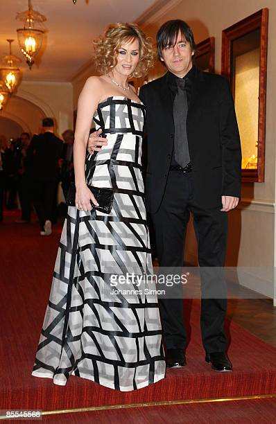 Gesine Cukrowski and her husband Michael Helfrich arrive for the Gala Spa Awards at Brenner's Park Hotel on March 21 2009 in Baden Baden Germany