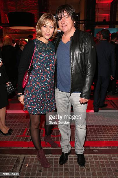 Gesine Cukrowski and her husband Michael Helfrich during the New Faces Award Film 2016 at ewerk on May 26 2016 in Berlin Germany