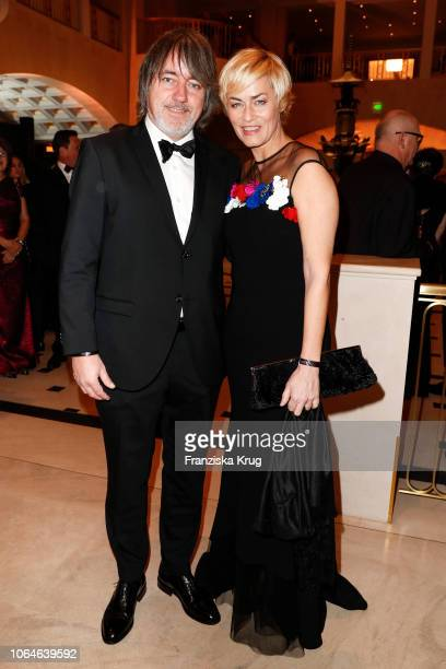 Gesine Cukrowski and Michael Helfrich during the 67th Bundespresseball at Hotel Adlon on November 23 2018 in Berlin Germany