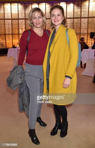 """Gesine Cukrowski and Pia-Micaela Barucki attend the Rio Reiser premiere """"Mein Name Ist Mensch"""" at Komoedie am Kurfuerstendamm at Schiller-Theater on..."""
