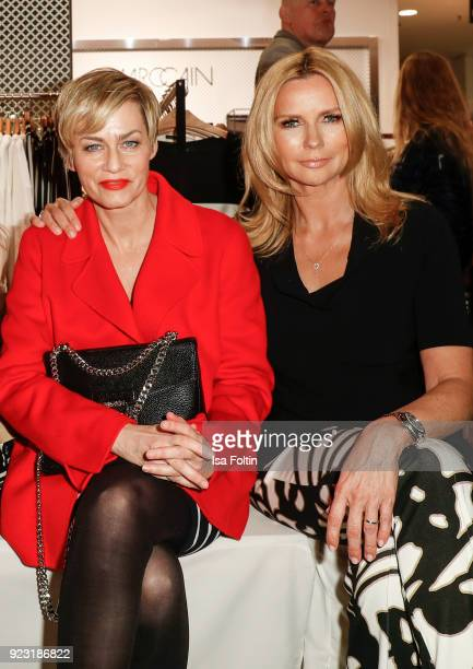 Gesine Cukrowski and Veronica Ferres attend the KaDeWe X Marc Cain Fashion Show Spring/Summer Collection 2018 at KaDeWe on February 22 2018 in Berlin...