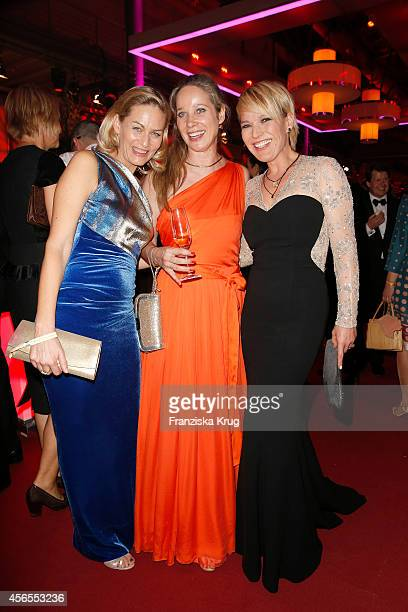 Gesine Cukrowski AnnKathrin Kramer and Andrea Ballschuh attend the Deutscher Fernsehpreis 2014 after show party on October 02 2014 in Cologne Germany