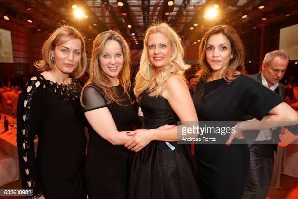 Gesine Cukrowski AnnKathrin Kramer Barbara Schoeneberger and Rebecca Immanuel attend the German Television Award at Rheinterrasse on February 2 2017...