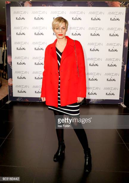 Gesine Cukrowski attends the KaDeWe X Marc Cain Fashion Show Spring/Summer Collection 2018 at KaDeWe on February 22 2018 in Berlin Germany