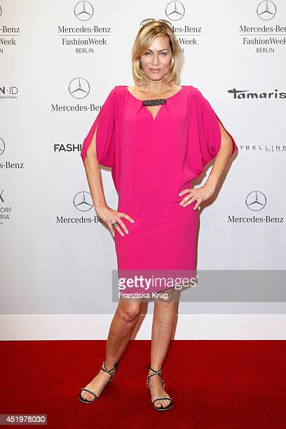Gesine Cukrowski attends the Laurel show during the MercedesBenz Fashion Week Spring/Summer 2015 at Erika Hess Eisstadion on July 10 2014 in Berlin...