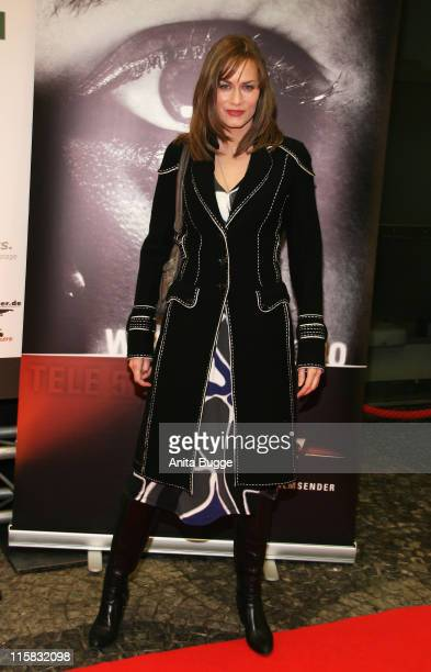 Gesine Cukrowski attends the Wir Lieben Kino Directors Cut photocall and press conference on day seven of the 58th Berlinale Film Festival on...