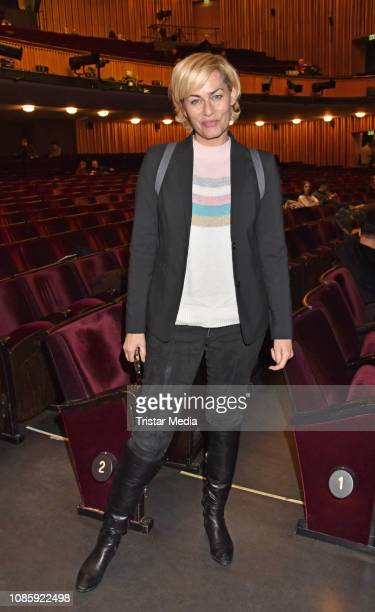 Gesine Cukrowski during the 'Hase Hase' theatre premiere at Komoedie am Kurfuerstendamm at Schillertheater on January 20 2019 in Berlin Germany