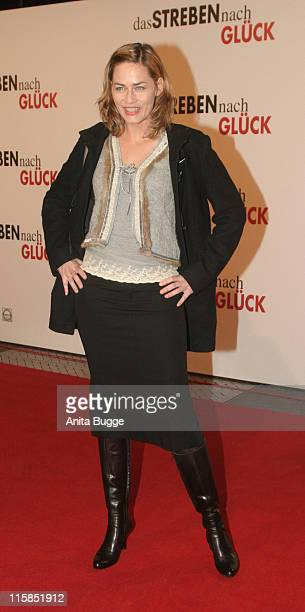 Gesine Cukrowski during The Pursuit of Happyness Germany Premiere January 9 2007 at Movietheatre Cinestar Sony Center in Berlin Berlin Germany