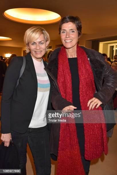 Gesine Cukrowski Julia Bremermann during the 'Hase Hase' theatre premiere at Komoedie am Kurfuerstendamm at Schillertheater on January 20 2019 in...