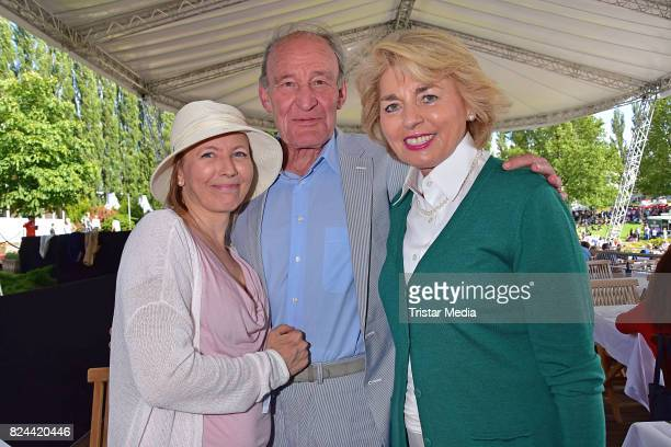 Gesine Friedmann Michael Mendl and Tini Graefin Rothkirch during the Global Jumping at Longines Global Champions Tour at Sommergarten unter dem...