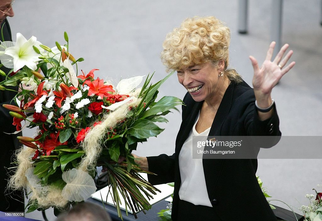 Gesine SCHWAN, candidate of SPD and Alliance 90/The Greens for the function of the federal president, after the vote of the Federal Convention in the plenary chamber of the federal German parliament.