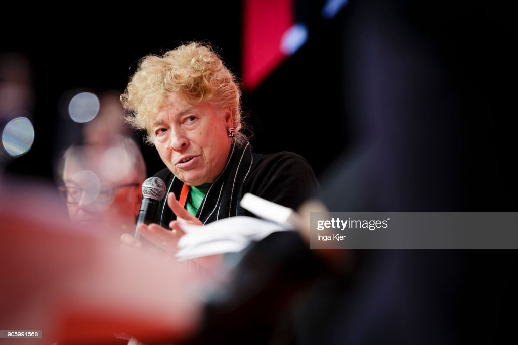 Gesine Schwan, SPD, in the course of the PES party congress on December 01, 2017 in Lisbon, Portugal.