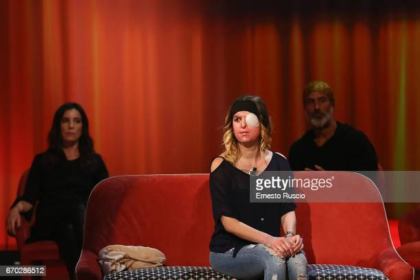 Gessica Notaro attends the Maurizio Costanzo Show at Voxson Studios on April 19 2017 in Rome Italy
