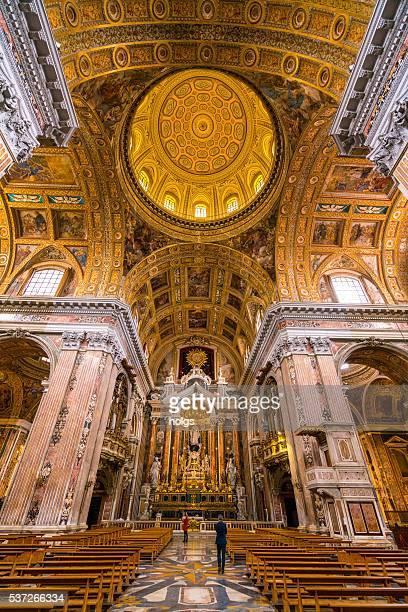 gesù nuovo a napoli, italia - cattedrale foto e immagini stock