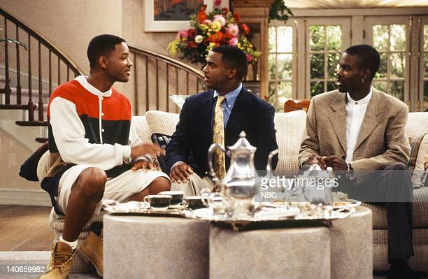 AIR THE Get a Job Episode 2 Pictured Will Smith as William 'Will' Smith Alfonso Ribeiro as Carlton Banks Chris Rock as Maurice Photo by Jan...