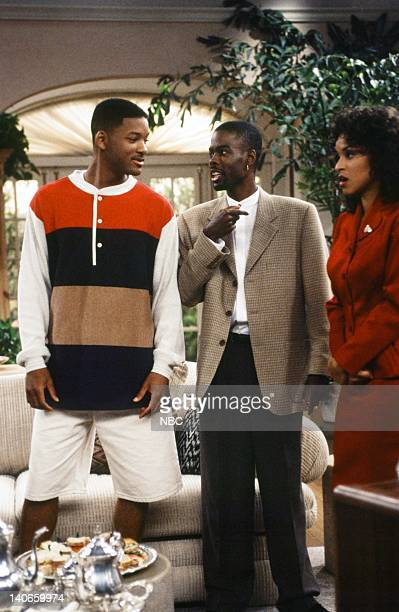 AIR THE 'Get a Job' Episode 2 Pictured Will Smith as William 'Will' Smith Chris Rock as Maurice Karyn Parsons as Hilary Banks Photo by Jan...