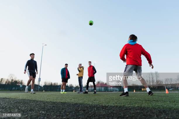 get on the end of it! - soccer stock pictures, royalty-free photos & images