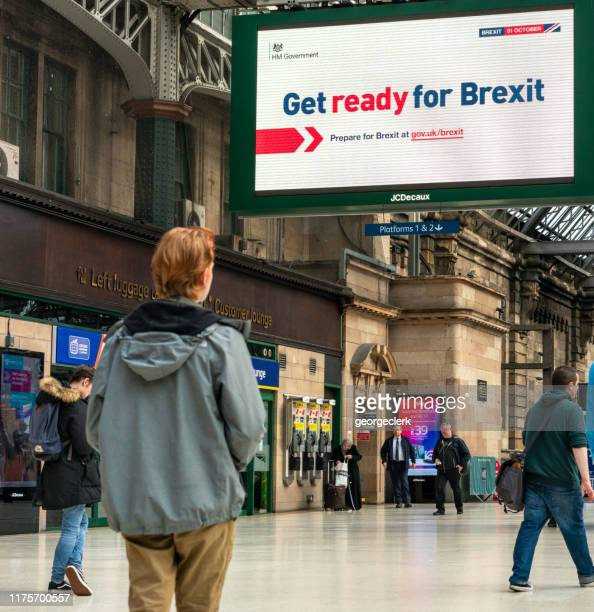 get ready for brexit sign - brexit stock pictures, royalty-free photos & images