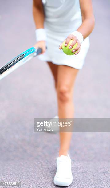 get ready for the serve - bouncing ball stock photos and pictures