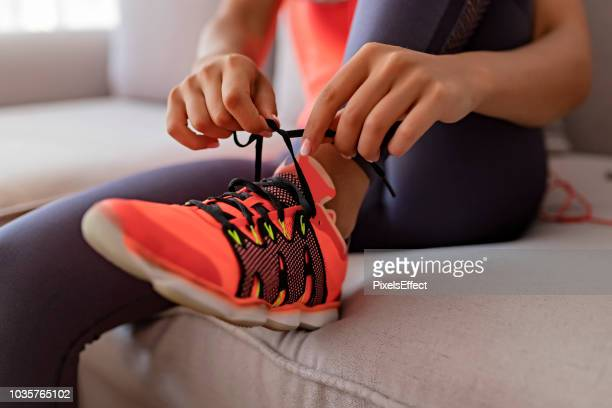 get ready to run your own life - sports shoe stock pictures, royalty-free photos & images