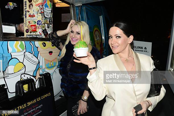 'Get Shaved' serves shaved ice at the IceLink Generation 6TZ watch collection launch party With Whitney Port at IceLink Boutique on December 15 2015...