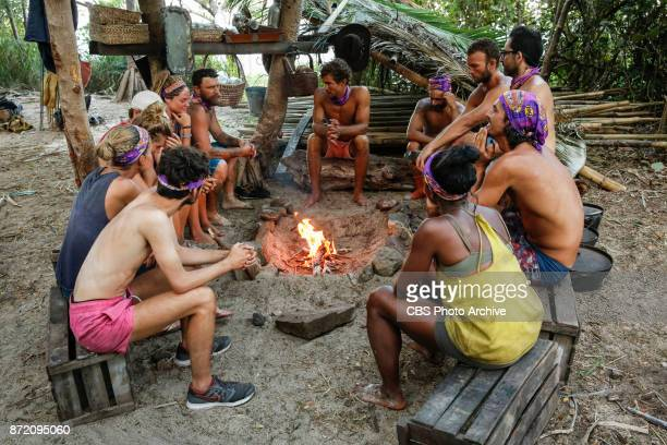 'Get to Gettin'' The newly merged tribe on the seventh episode of SURVIVOR 35 themed Heroes vs Healers vs Hustlers airing Wednesday November 8 on the...