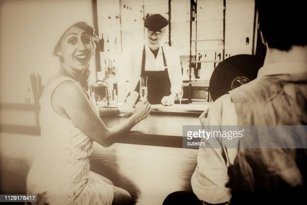 get your glasses up! - roaring 20s party stock photos and pictures