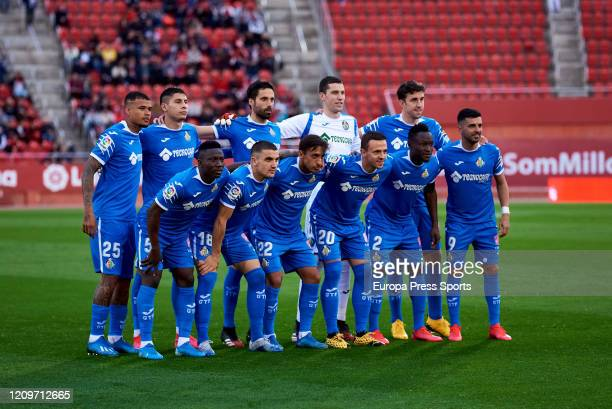 Getafe CF played during the Spanish League, La Liga, football match played between RCD Mallorca and Getafe CD at Son Moix stadium on March 01, 2020...