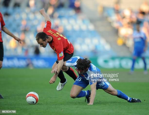 Getafe's Granero tackles Real Mallorca's B Valero