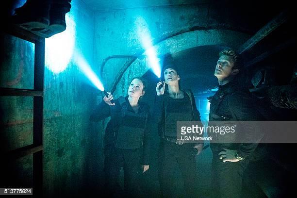 COLONY Getaway Episode 110 Pictured Thora Birch as Morgan Sarah Wayne Callies as Katie Bowman Charlie Bewley as Eckhart