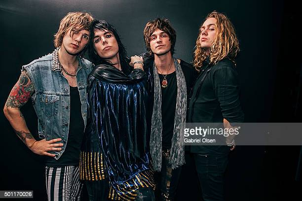 Gethin Davies Luke Spiller Addo Slack and Jed Elliott of The Struts attend the 1067 KROQ Almost Acoustic Christmas 2015 on December 12 2015 in Los...