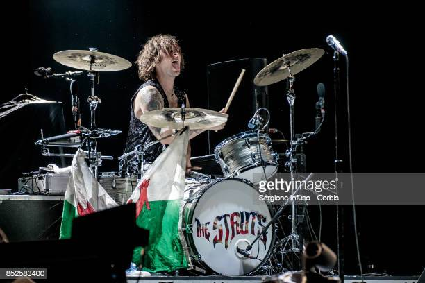 Gethin Davies of The Struts opens the concert of English rock band The Rolling Stones during Lucca Summer Festival 2017 on September 23 2017 in Lucca...