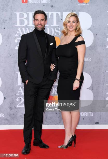 Gethin Jones and Gemma Atkinson attend The BRIT Awards 2019 held at The O2 Arena on February 20 2019 in London England